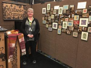 Elizabeth Tritthart in her booth