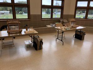 Historic Weaving Mobile Studio Set up