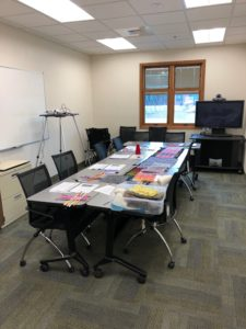 Historic Weaving's Classroom Setup