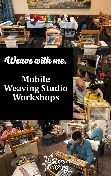 Weave with me. Mobile Weaving Studio Workshops