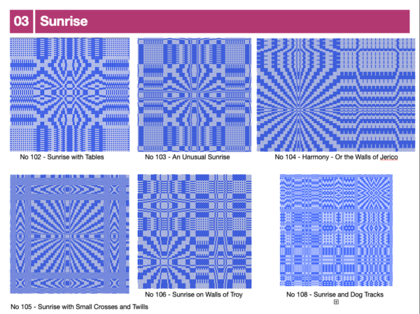 Sample page from Radiating Pattern catalogue