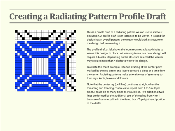 Second Sample Page from Radiating Patterns ebook