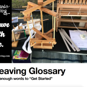 Weaving Glossary Cover Page