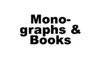 Monographs - Books - Instruction Modules