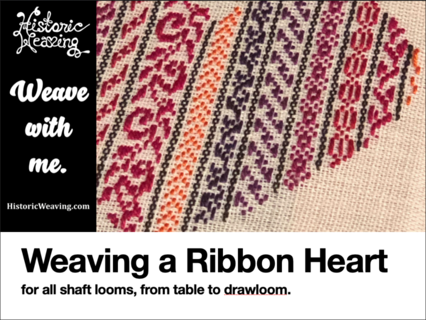 Weaving a Ribbon Heart Project - By Historic Weaving