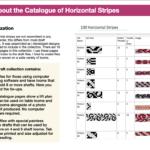 100 Horizontal Stripes Draft Catalogue